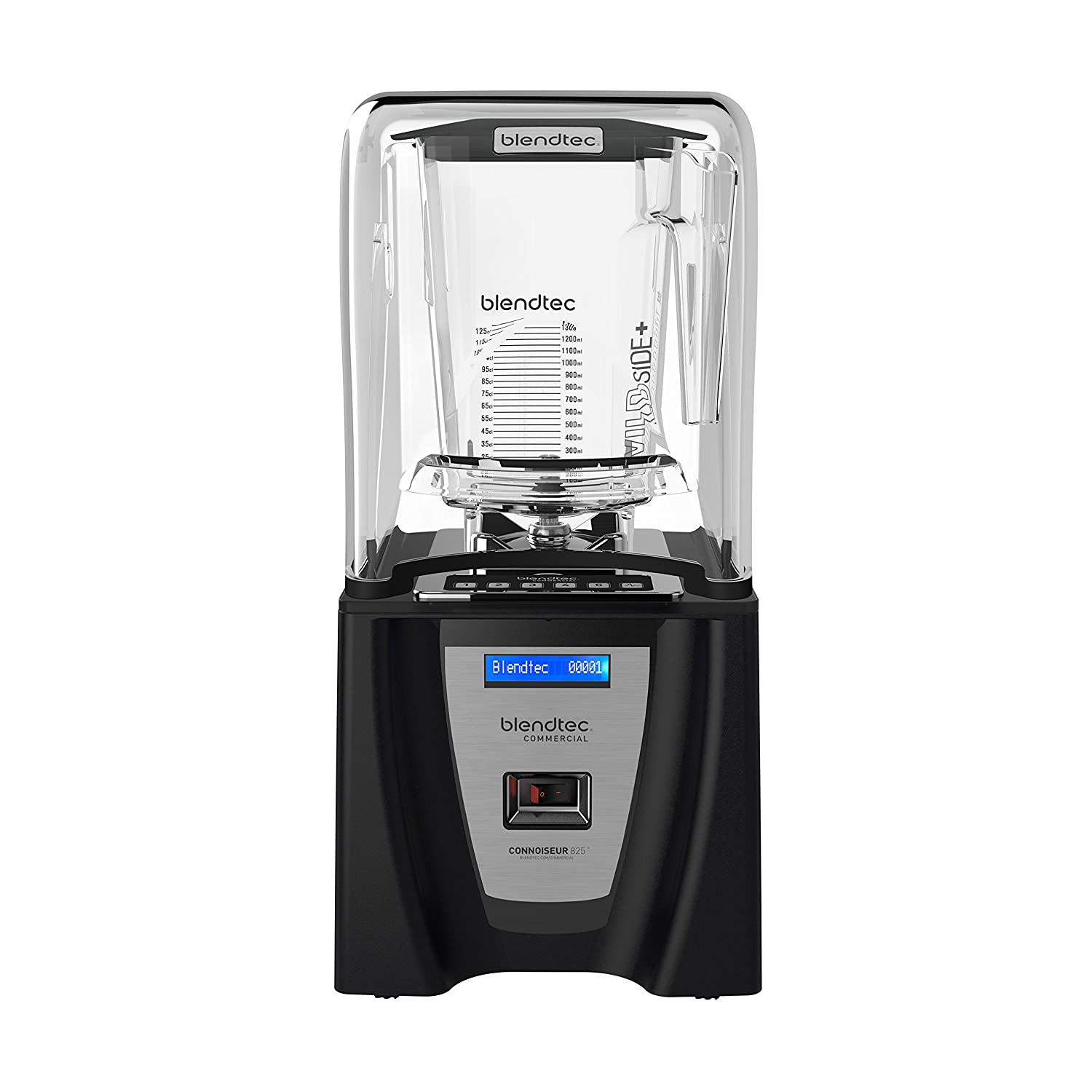 Blendtec Connoisseur 825 Professional Blender with WildSide+ Jar (90 oz), Includes Blendtec Q Series Sound Enclosure, Industries Strongest and Quietest Professional-Grade Power, 30 Pre-programmed Cycles, Black