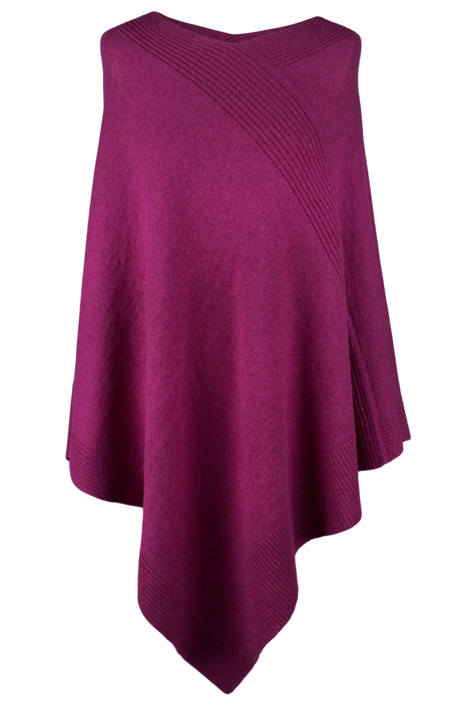 Love Cashmere Women's 100% Cashmere Poncho - Fuchsia Pink - Made In Scotland by RRP $600