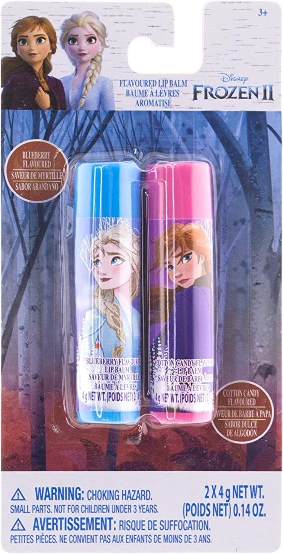Disney Frozen 2 Anna & Elsa 2-Piece Flavored Lip Balm Stocking Stuffer Party Favor Gift Set