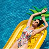 """CLASSIC Giant Inflatable Pineapple Swimming Pool Float Raft. 76"""" Jumbo Tropical Summer Pool Float For Adults & Kids Outdoor Pool Large Floatie Lounge Party Toys Fruit Floaty Lounger Float"""