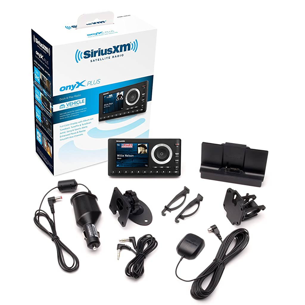 SiriusXM SXPL1V1 Onyx Plus Satellite Radio Receiver with Vehicle Kit with 1 month free and free activation
