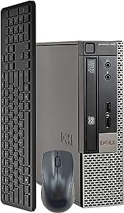 Dell OptiPlex 990 Ultra Small USFF Computer Desktop PC (Intel Core i5 Processor, 8GB Ram, 250GB SSD, Wireless Keyboard & Mouse, WiFi & Bluetooth, New 1080p Webcam,) Windows 10 (Renewed)