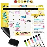 WOTEK A3 Pizarra Magnética Nevera, Calendario Magnetico para Nevera Semanal Mensual (1*A3 Planificador, 1* A5…