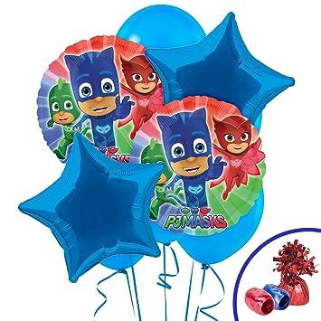 Amazon.com: Cumpleaños Express – máscaras de PJ ramo de ...