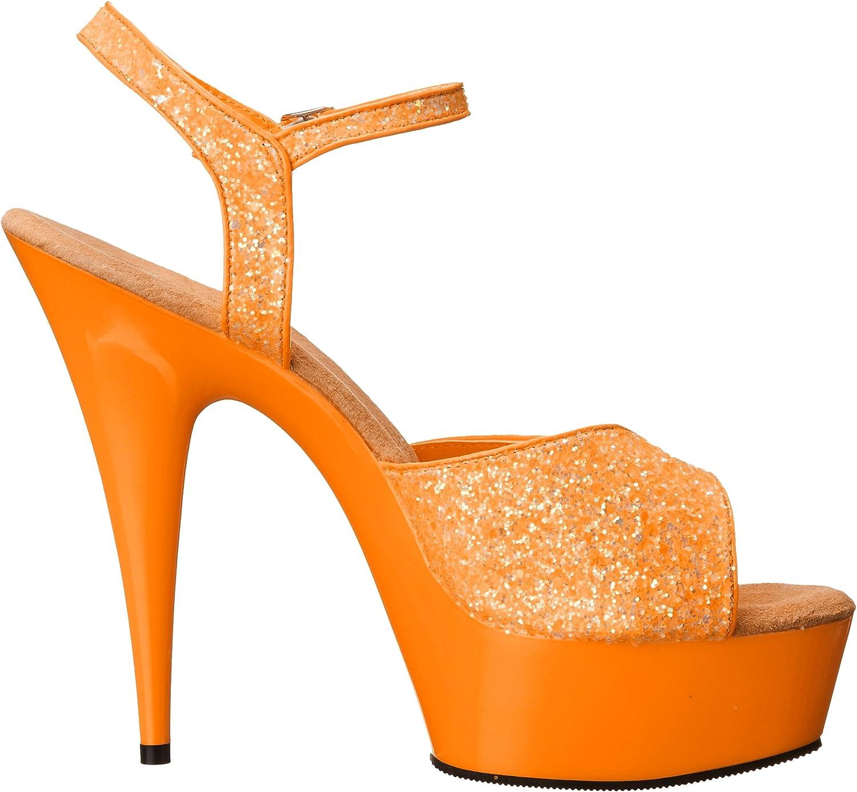Pleaser Womens Delight-609UVG//NOR//M Platform Sandal