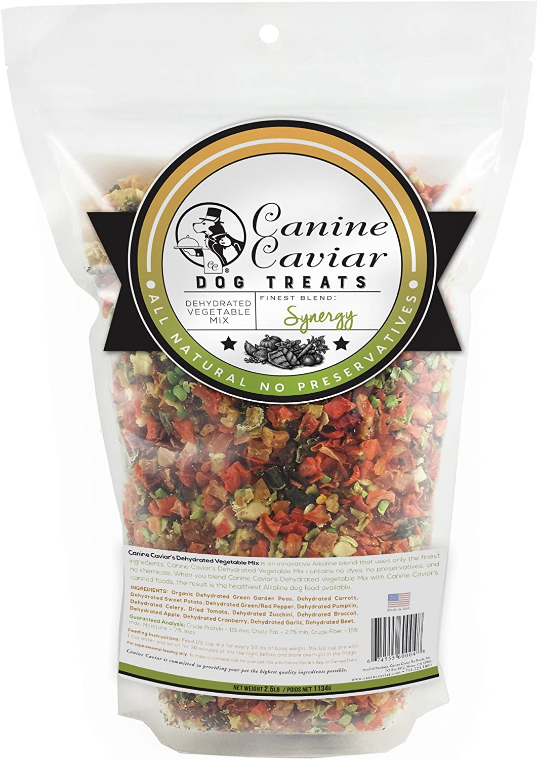 Canine Caviar Synergy Vegetable Mix Supplement 2.5 lbs