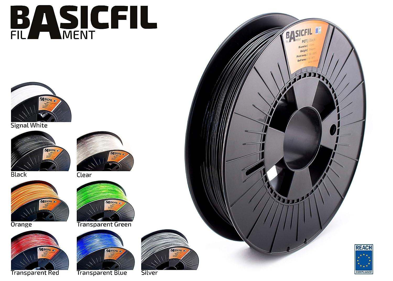 Basicfil PET  1.75mm 500 gr filamento per stampante 3D Arancione