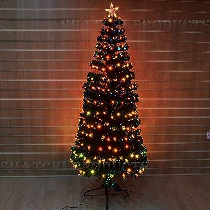 Led Fiber Optic Christmas Trees.6ft 180cm Pre Lit Led Fibre Optic Christmas Tree 18 Digital Effects Xmas Decor