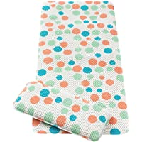 Clevamama Clevamama Baby Bath Mat & Knee Cushion - Non Slip Children's Mat with Suction Pads - Polka Dots