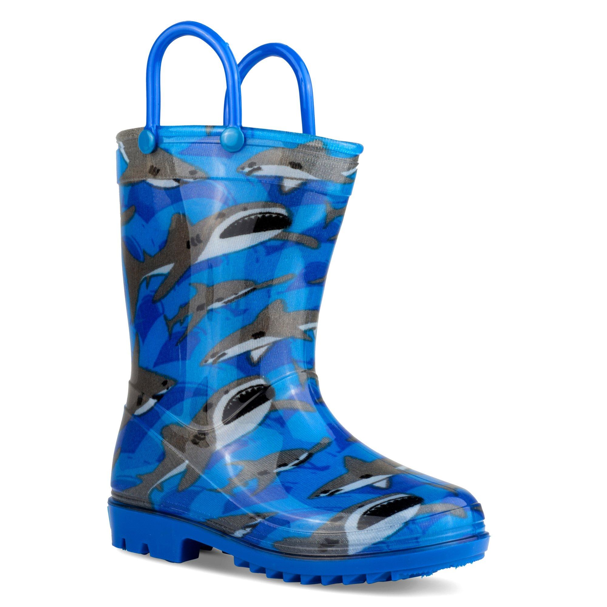 ZOOGS Kids Rainboots, Waterproof, Pull Handles, Fun Prints & Colors