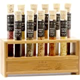 The Spice Lab Sea Gourmet Salt Sampler Collection 1 - 11 Pyrex Tubes - Makes Excellent Grilling Gifts - Premium Gourmet…