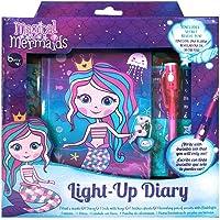 Berry Hip Light Up Diary de Magical Mermaids, Diario con Candado y Pluma con Linterna Diario
