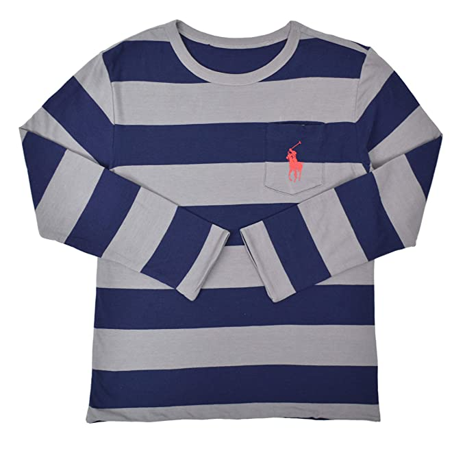 9829d689a Polo Ralph Lauren Boys Kids Reversible Long Sleeve Striped Big Pony ...