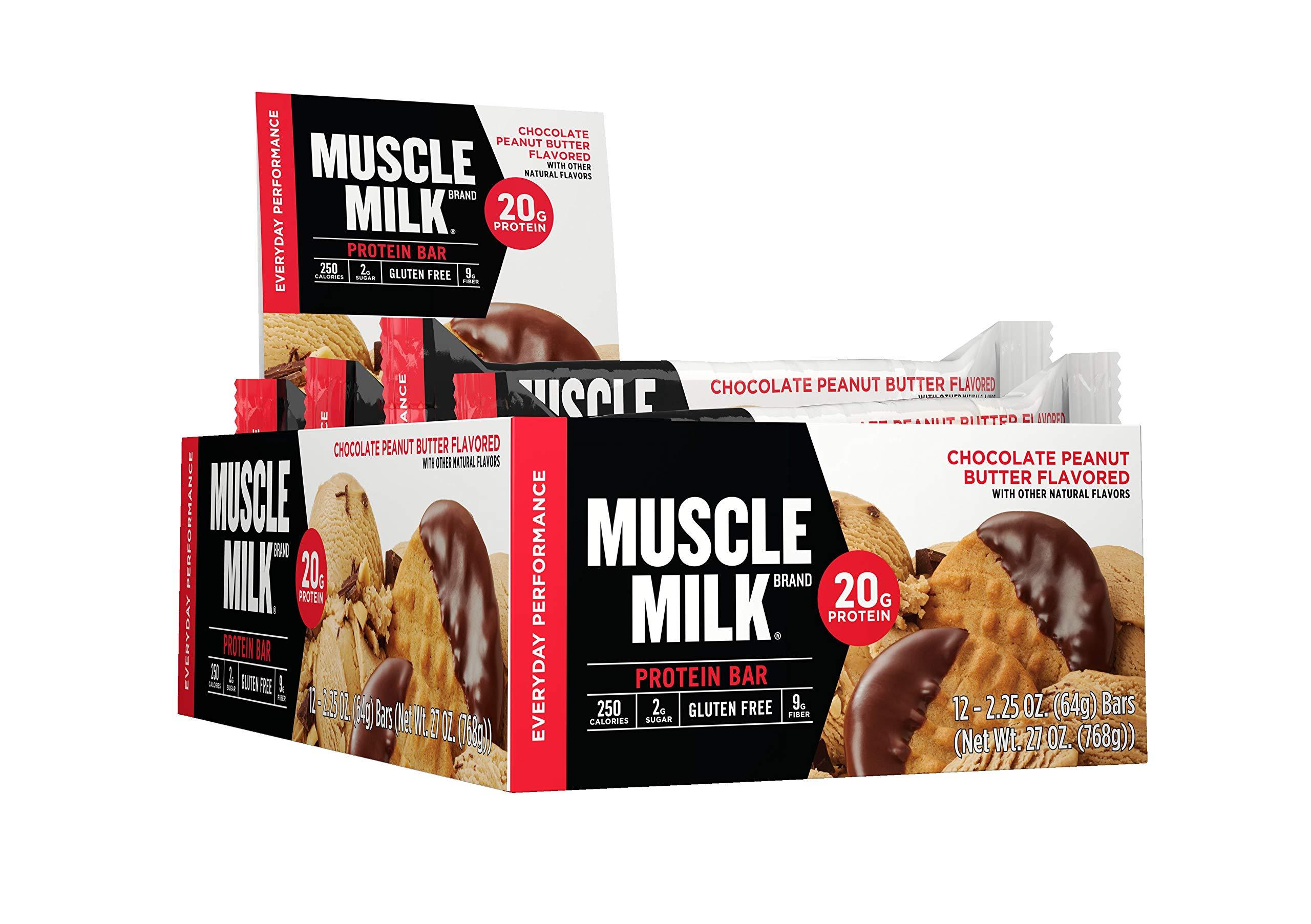 Muscle Milk Protein Bar Chocolate Peanut Butter 20g 225 Oz 12