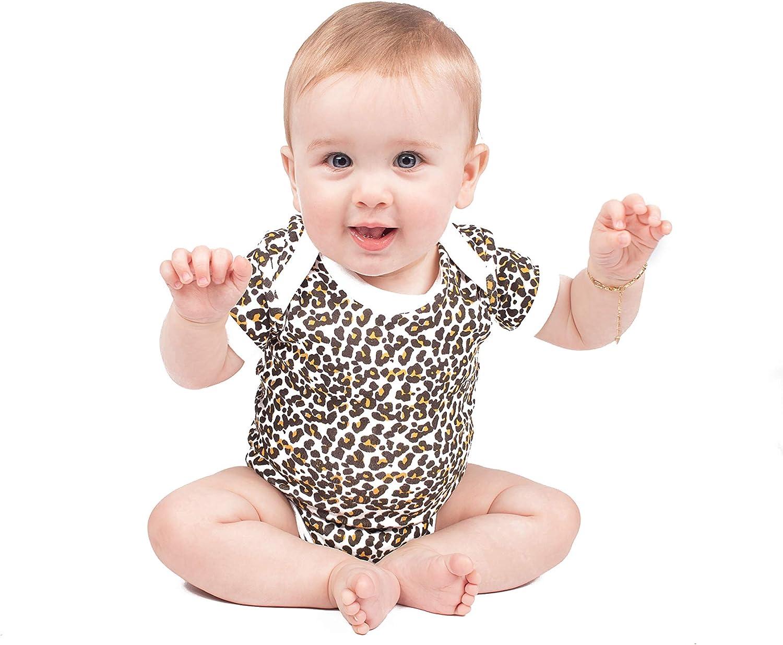 Unterhemd wei/ß leopard 0-24 Monate Baby Moos Baby M/ädchen