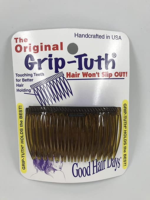 1940s Hairstyles- History of Women's Hairstyles Good Hair Days Grip Tuth Combs 40405 Set of 2 Tortoise Shell Color 2 3/4 Wide $6.01 AT vintagedancer.com