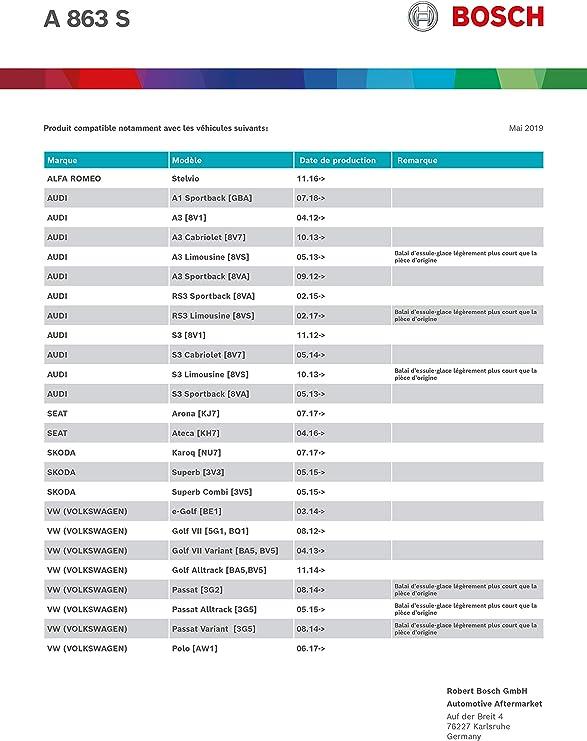 Bosch 3 397 013 741 Escobillas De Limpiaparabrisas