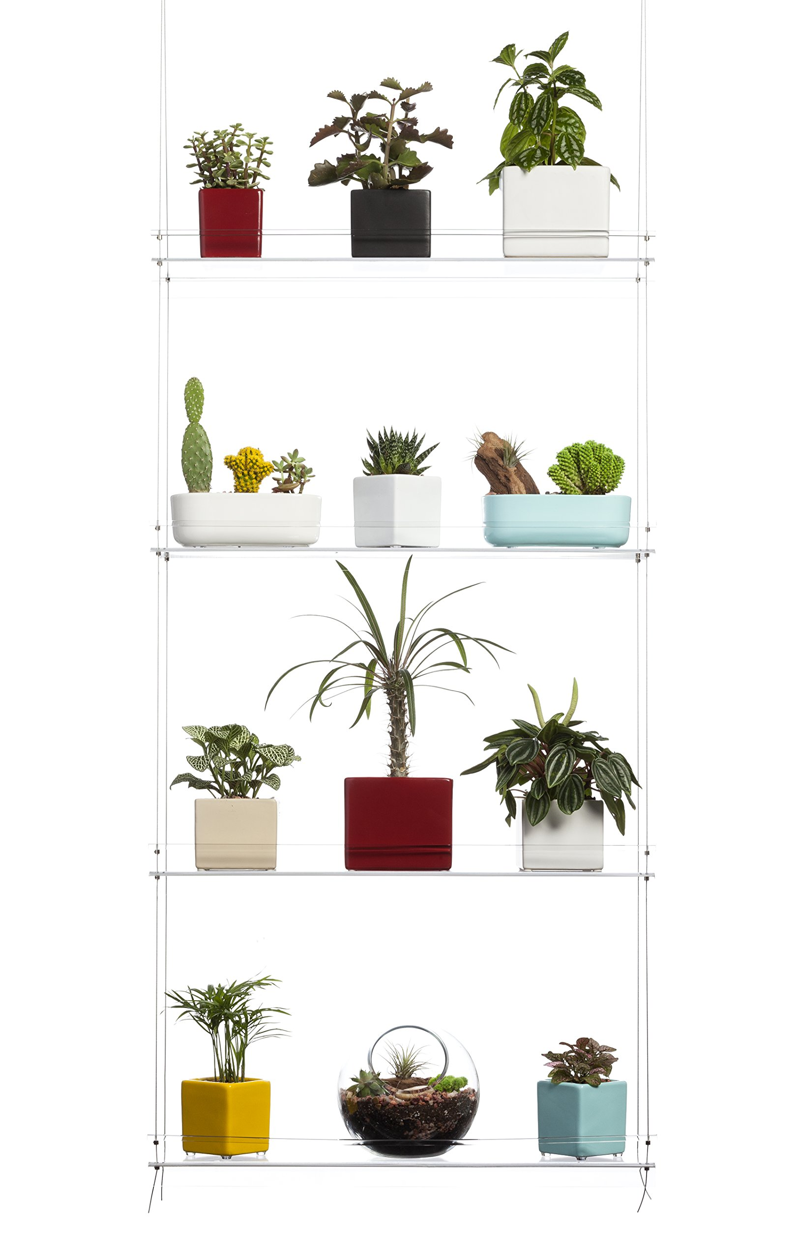 Hanging Window Plant Shelves 16