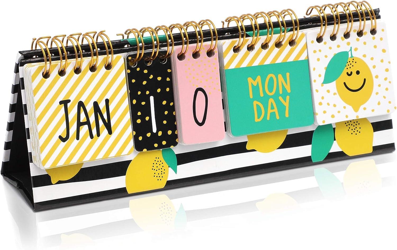 Lemon Desktop Flip Calendar (8.7 x 3 in)