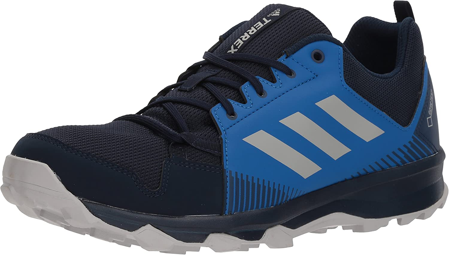 adidas outdoor Men's Terrex Tracerocker GTX Trail Running Shoe, col. Navy/Grey Two/Blue Beauty, 10 D US