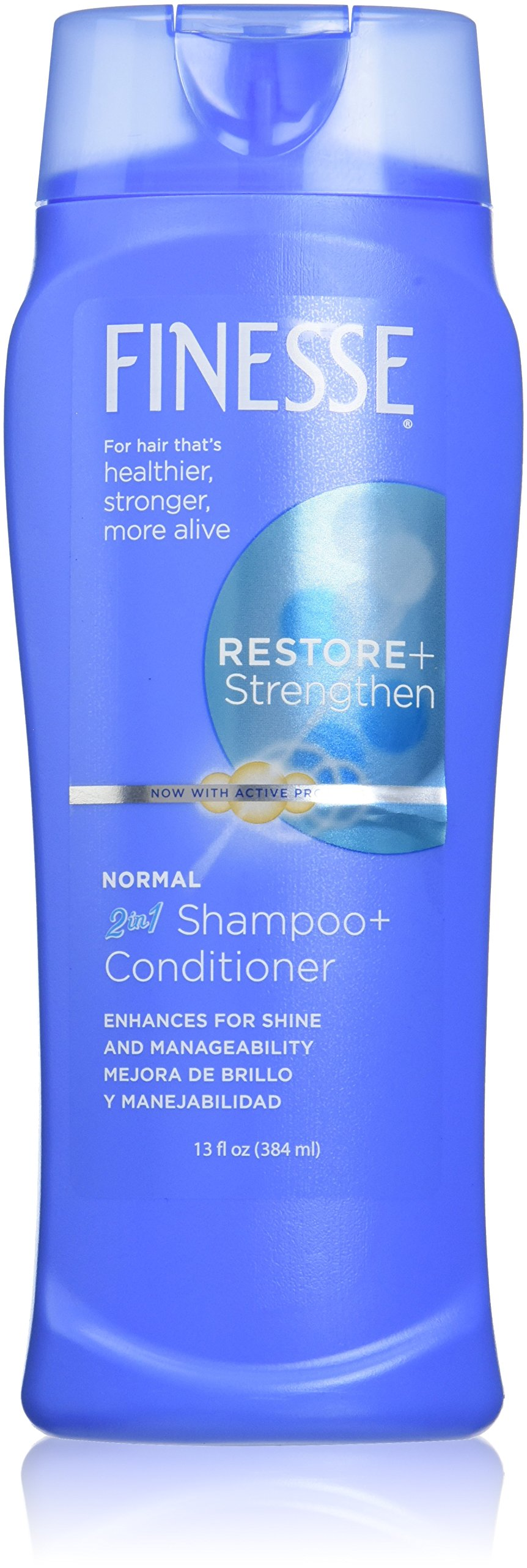 Finesse Restore + Strengthen Normal 2in1 Shampoo + Conditioner (formerly Texture Enhancing) - 13oz - 6-Pack - Enhance Shine & Manageability