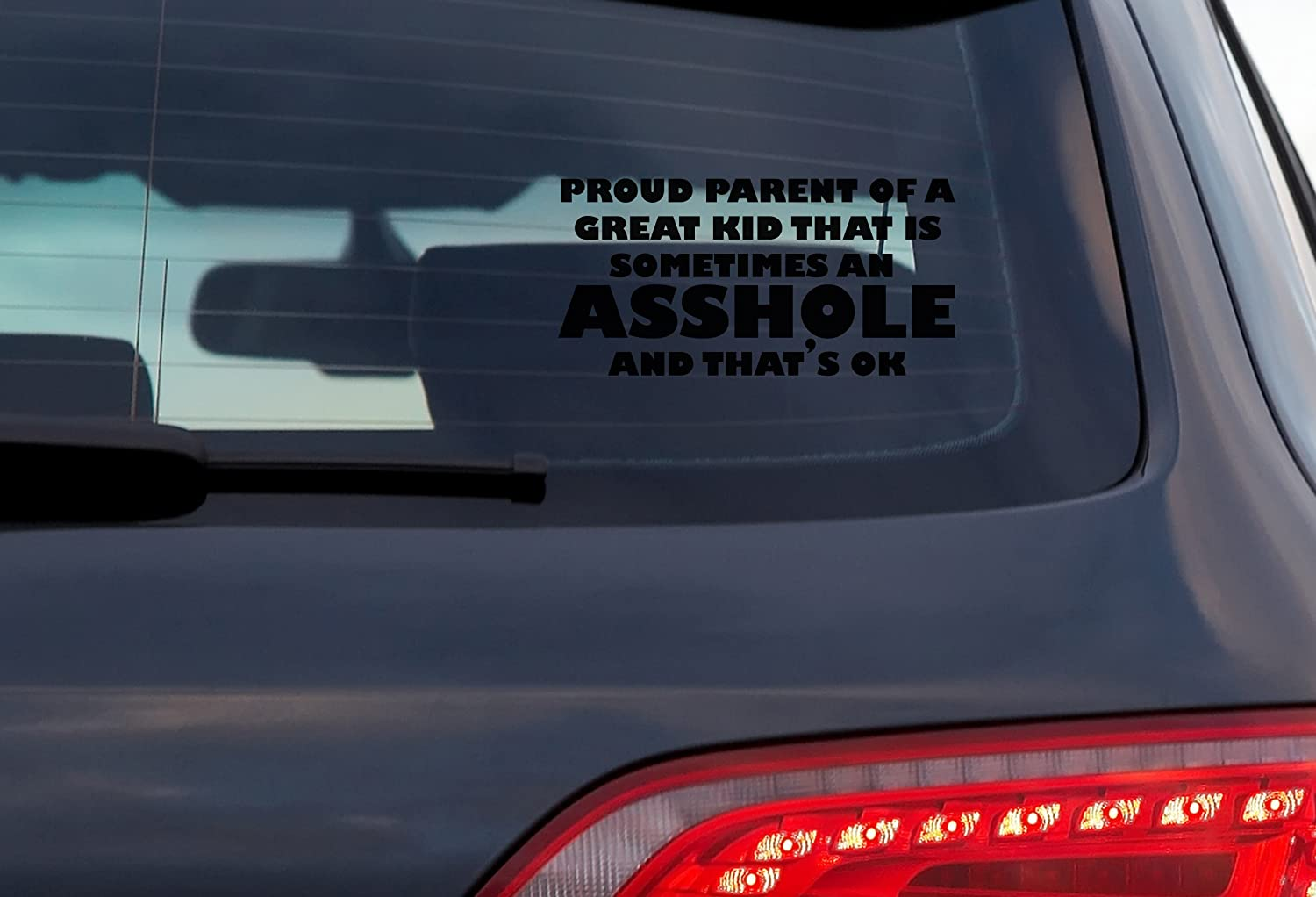 DOOMSDAYDECALS Proud Parent Of A Great Kid 8 Inch Vinyl Decal For Car Window Exterior White
