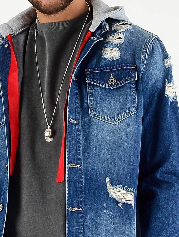 VSCT Clubwear Herren Jeansjacken 2 In 1 Hybrid
