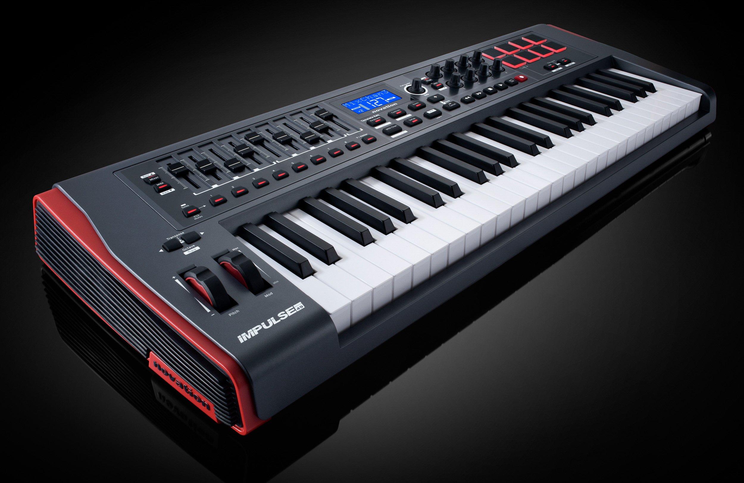 Novation Impulse 49 Keyboard Bundle with MIDI Cables and Austin Bazaar Polishing Cloth by Novation (Image #5)