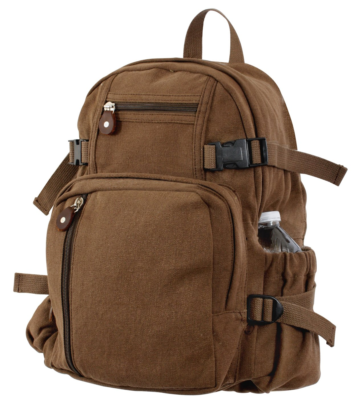 Rothco Vintage Canvas Mini Backpack-Earth Brown