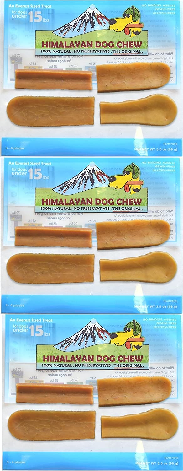 FRESH HIMALAYAN DOG CHEW SMALL 3-4 PIECES HEALTHY NATURAL LONG LASTING TREAT 3 Pack