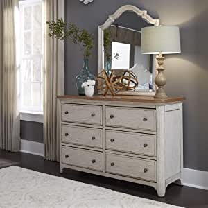 Liberty Furniture Industries Farmhouse Reimagined Dresser & Mirror, Antique White