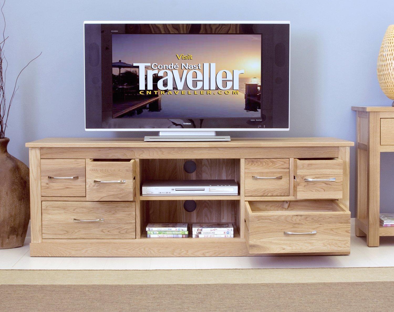 Mobel Oak Widescreen Television Cabinet: Amazon.co.uk: Kitchen & Home