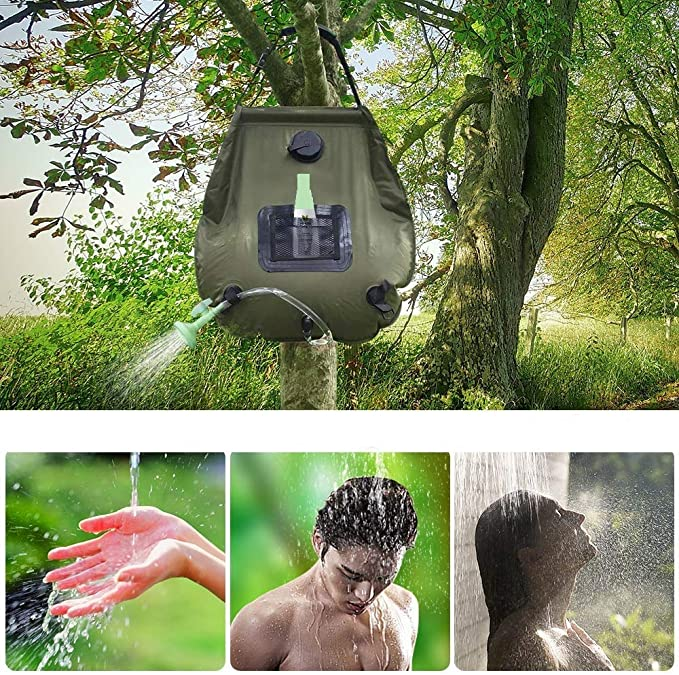 Spetebo Douche solaire de camping 15 L Douche solaire dext/érieur Douche de jardin Sac de douche /à suspendre