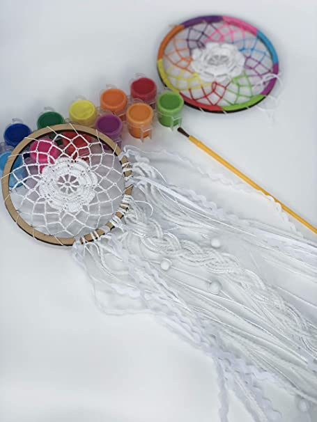 TESMAINS DIY Paper Dream Catcher Kit Fun Quilling Crafting Kit for Kids Beginners Adults Girls Boys Teens
