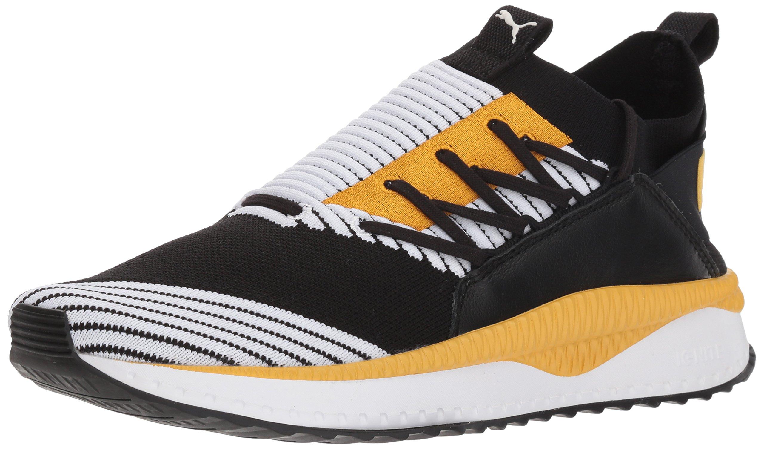 5732c1018e PUMA Men's Tsugi Jun Sneaker, Black White-Mineral Yellow, 10 M US