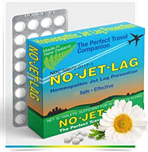Miers Labs No Jet Lag Homeopathic Remedy + Fatigue Reducer for Airplane Travel Across Time Zones - 32 Count Chewable Tablets (for up to 50+ hours of flying)
