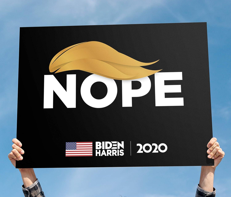 Joe Biden 2020 Political Sign Made in America Printed Front /& Back Trump Nope Sign Waterproof Includes Lawn H-Stake Joe Biden 2020 Campaign Yard Sign Large 18 x 24 Anti Trump Yard Sign