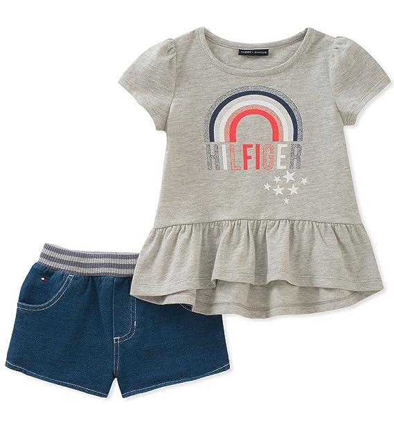Amazon.com: Tommy Hilfiger - Pantalones cortos para niña, 3T ...