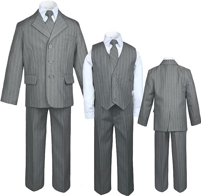 Unotux Boy Black Formal Suit Tuxedo with Paisley Jacquard Lapel S-20