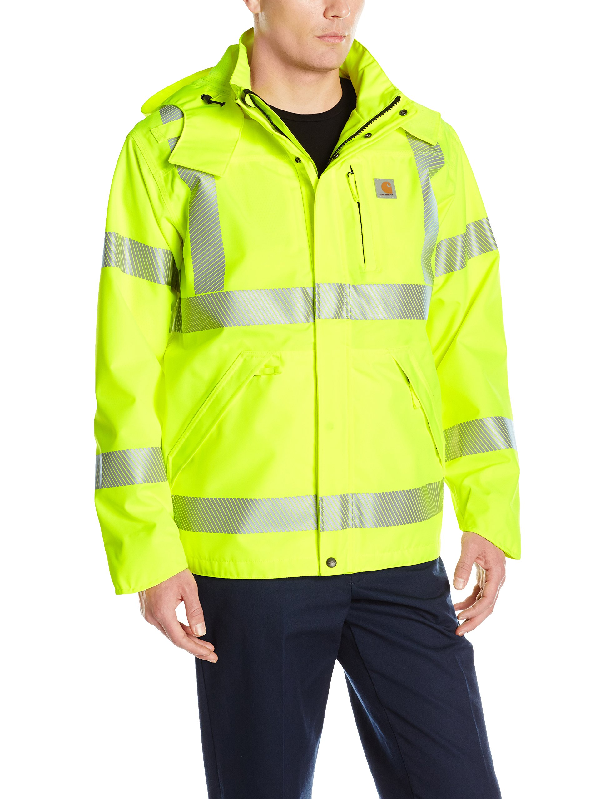 Carhartt Men's High Visibility Class 3 Waterproof Jacket,Brite Lime,Large by Carhartt