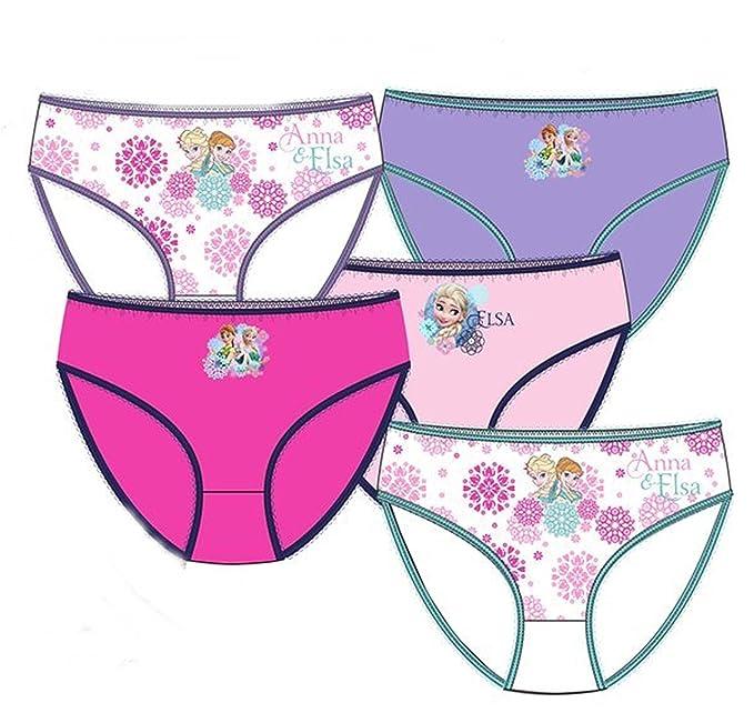 Pack de 5 braguitas diseño Elsa y Anna FROZEN (Disney) 5 diseños diferentes tallas