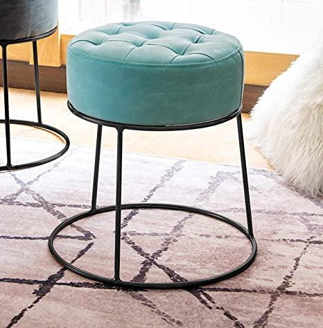 Strange Art Leon Small Round Ottoman Short Ottoman Stackable Footstool Ottoman Leather Pouf Ottoman Foot Rest For Living Room Vanity Dorm Apartment 14 17 X Ncnpc Chair Design For Home Ncnpcorg