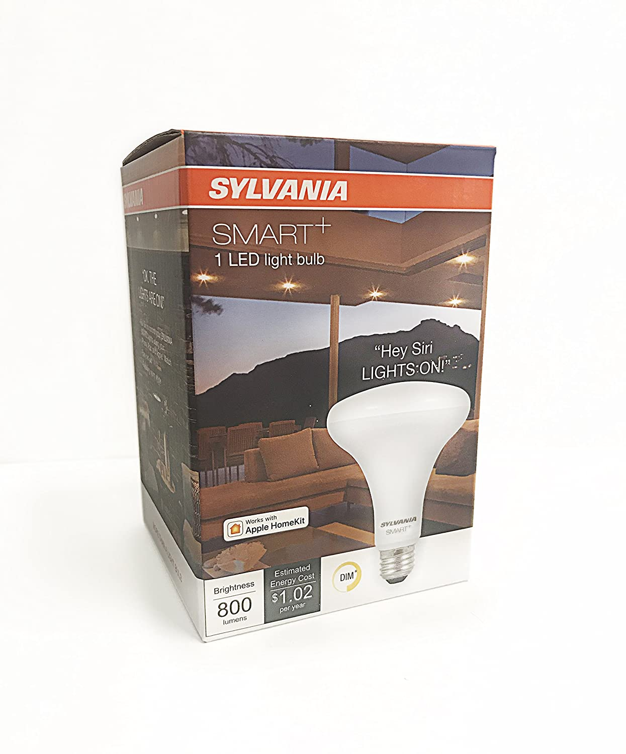 Sylvania 75587 Smart+ Bluetooth Full Color BR30, Works with Apple HomeKit and Siri Voice Control, No Hub Required for Set Up, 4 Pack - - Amazon.com