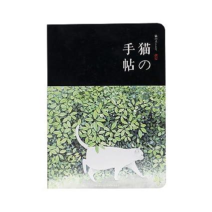 Cuaderno A5 interior listo motivo de gatos (Negro): Amazon ...