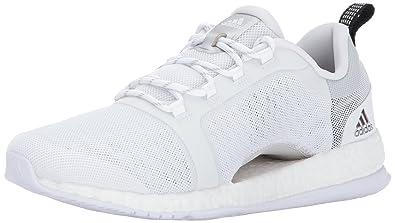 f8eab217443 adidas Women's Pureboost X TR 2 Running Shoe, White/Metallic Silver/Black,