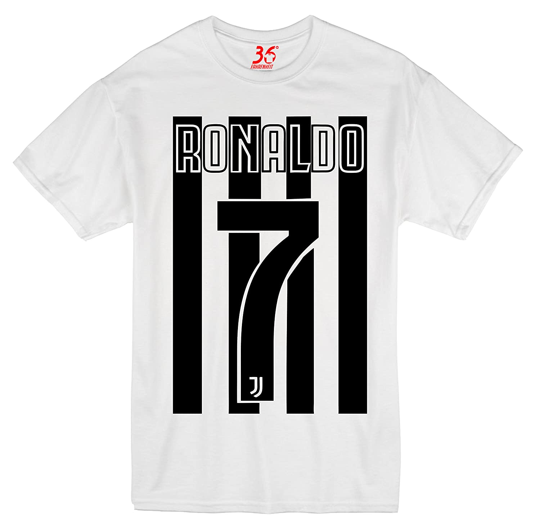 pretty nice a0834 a87e0 36FAHRENHEIT Unisex Cristiano Ronaldo CR7 Juventus Cotton T ...