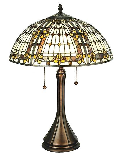 Amazon.com: Meyda Tiffany lámpara de mesa de 27031 – de flor ...
