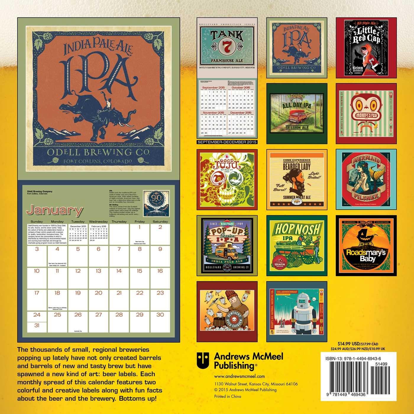 Beer Labels 2016 Wall Calendar: Andrews McMeel Publishing LLC ...