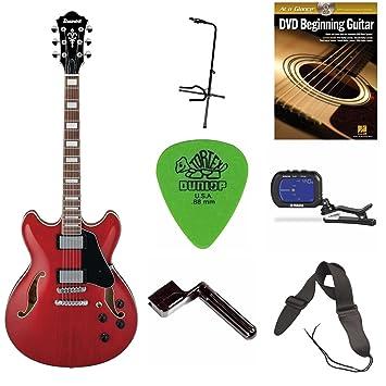 Ibanez As73 como Artcore Semi-Hollow cuerpo guitarra eléctrica + DVD, fotos, correa, cuerdas), sintonizador y soporte: Amazon.es: Instrumentos musicales