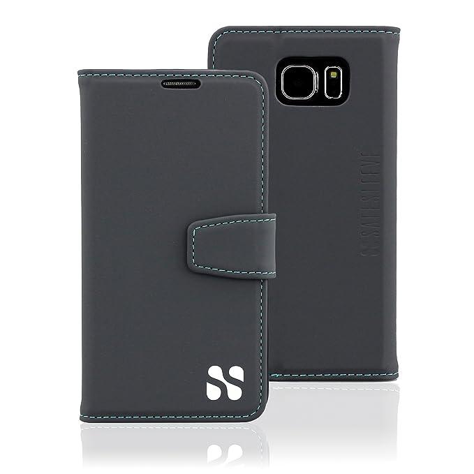 ea3121af1505 Anti Radiation RFID Galaxy Case: Galaxy S6 ELF & RF Blocking Identity Theft  Protection Wallet (Grey)